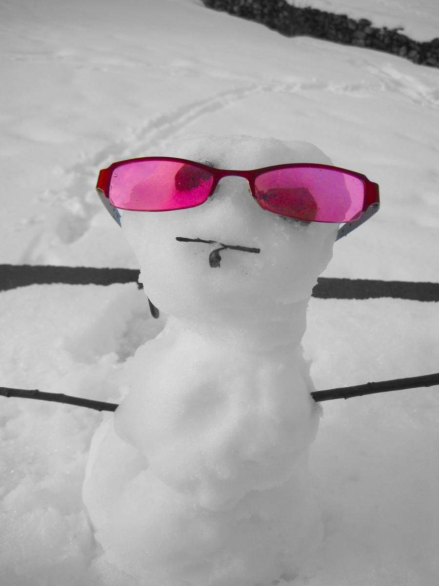 Snowman by SilverDragon2050