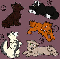 Adoptable Puppies 2 -OPEN- by SilverDragon2050
