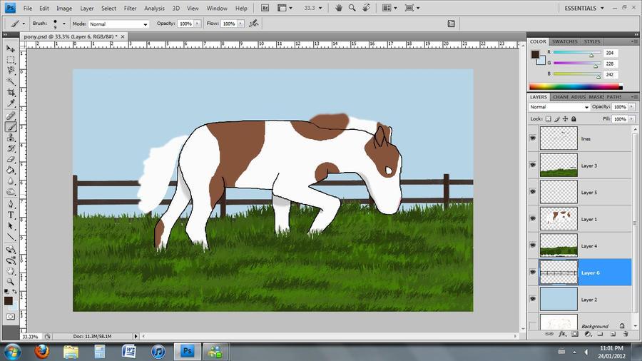 Foal WIP by SilverDragon2050