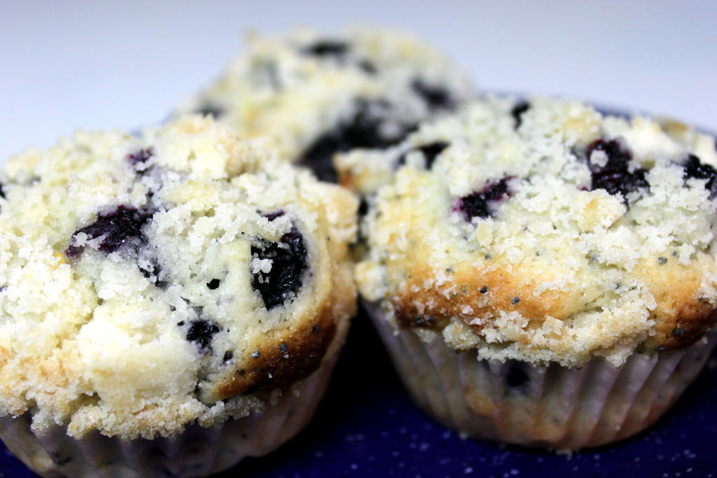 Lemon Poppy Seed Blueberry muffins by SilverDragon2050 on deviantART