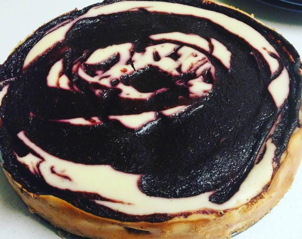 Cherry Swirl Cheesecake by SilverDragon2050 on DeviantArt