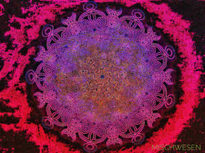 One-line-Mandala neon
