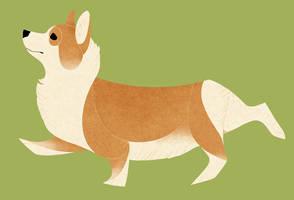 Geometric dogs - Welsh Corgi Pembroke by Kelgrid