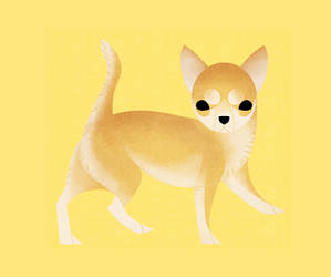 Geometric dogs - Chihuahua Short Haired by Kelgrid
