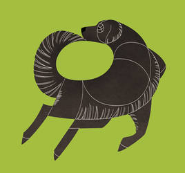 Geometric dogs - Flat-Coated Retriever by Kelgrid