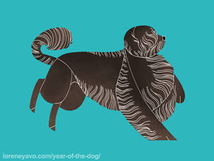 Year of the Dog - Portuguese Water Dog