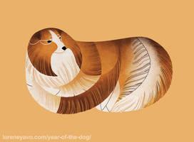 Year of the Dog - Shetland Sheepdog by Kelgrid