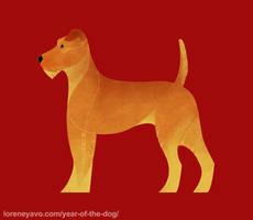 Year of the Dog - Irish Terrier by Kelgrid