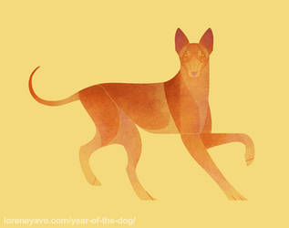Year of the Dog - Pharaoh Hound (Kelb tal-Fenek) by Kelgrid