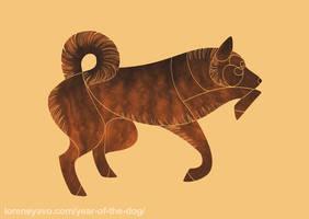 Year of the Dog - Kai Ken by Kelgrid