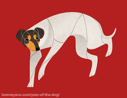 Year of the Dog - Japanese Terrier by Kelgrid