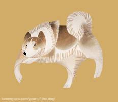 Year of the Dog - Canadian Eskimo Dog by Kelgrid