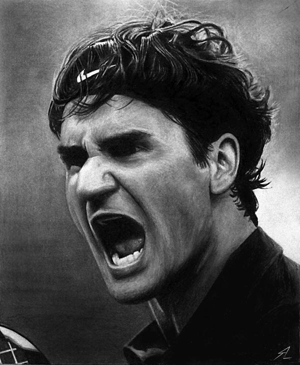 Roger Federer: Roger Federer By Electricgod On DeviantArt