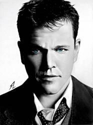 Matt Damon by Electricgod