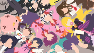 Main Girls (Minimalist) - Monogatari Series by Fremy-Speeddraw