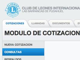 Lion's Club UI by jlizanab