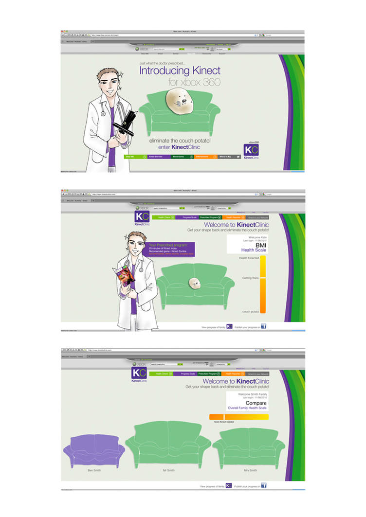 Kinect XBOX Campaign website by paulinatj on DeviantArt