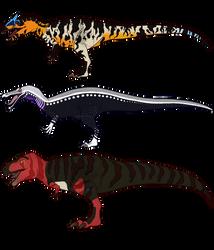 Sauridae final: Saurophaganax, Suchomimus, T rex