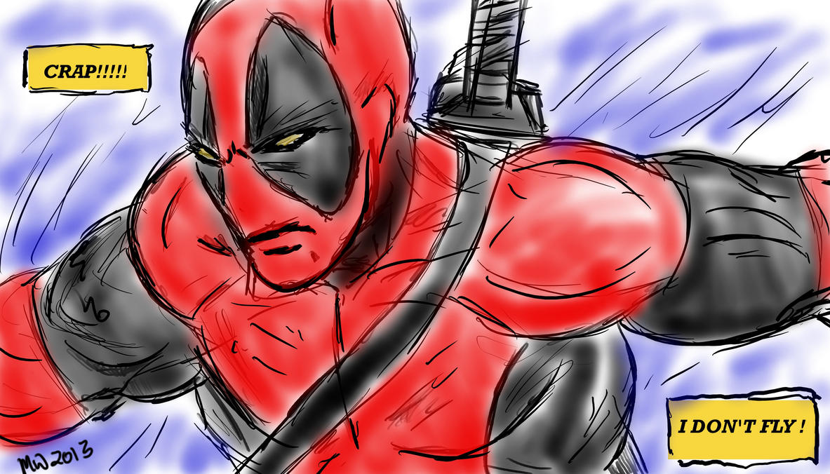 IT'S A BIRD IT'S A PLANE IT'S DEADPOOL ? by gonegonetheformofman
