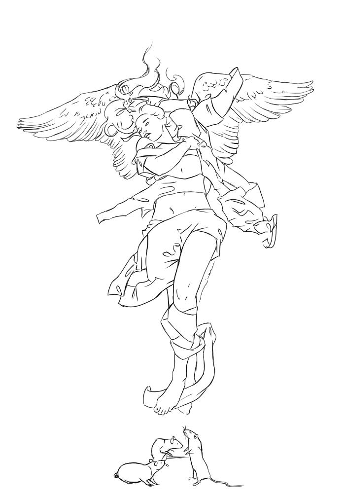Line Work Art : Line work plage s angel by versya on deviantart