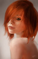 Redhair lady study by pandat0r