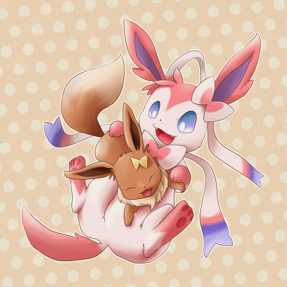 Sylveon And Eevee By Needlepotter