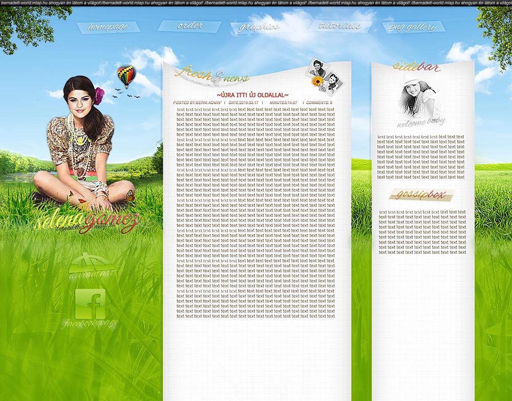 Selena Gomez design by bernadett98