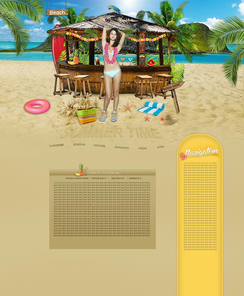 Selena Gomez summer layout by bernadett98