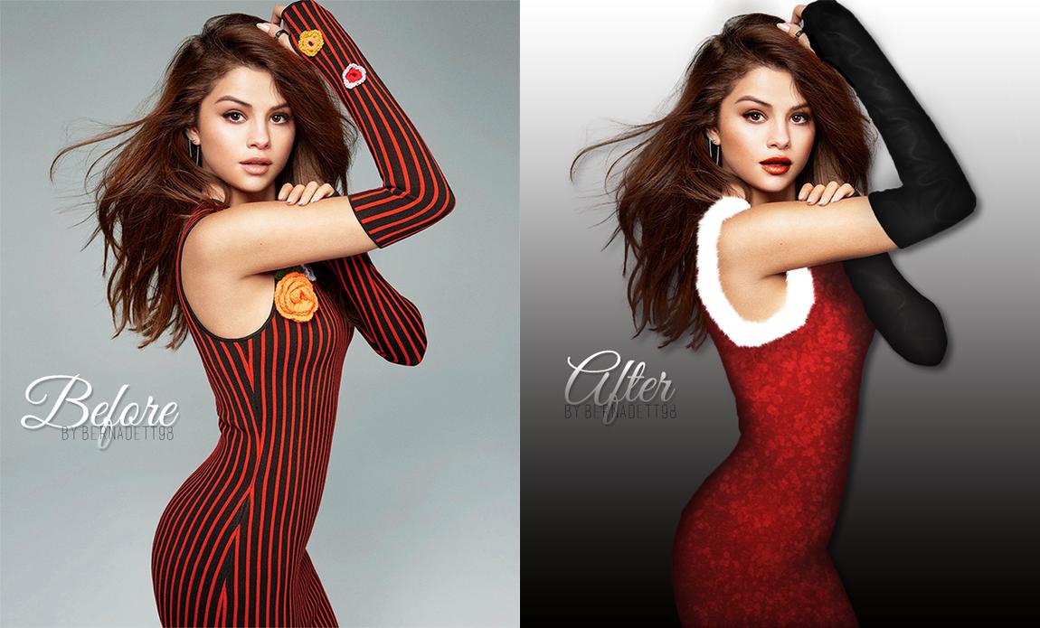 Selena Gomez christmas manip by bernadett98