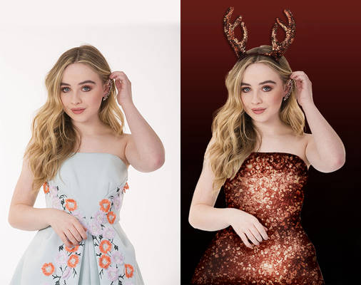 Sabrina Carpenter christmas manip