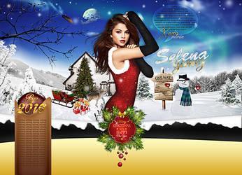 Selena Gomez Christmas Design