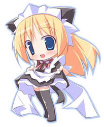 anime in maid cosplay