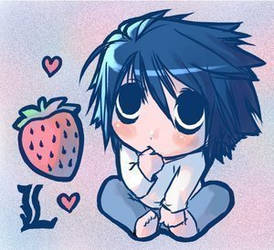 L and strawbeery