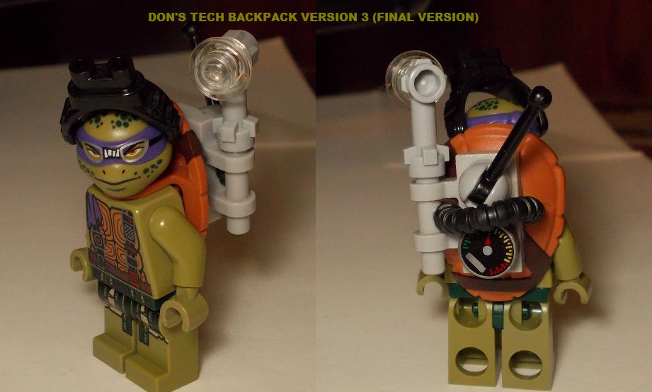 LEGO CUSTOMS: HIGHTECH BACKPACK VERSION 3 by TMNTFAN85