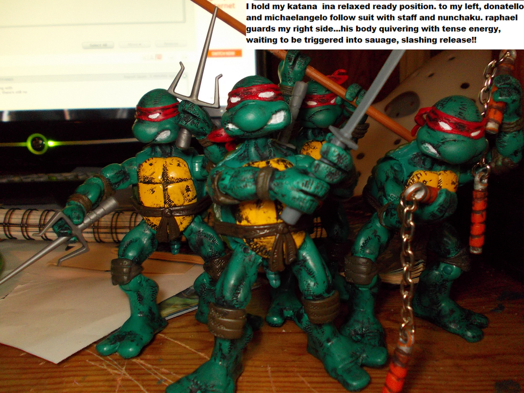 CAUGHT OUR BACKS TO THE WALL by TMNTFAN85