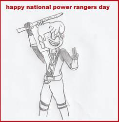 Happy power rangers day by TMNTFAN85