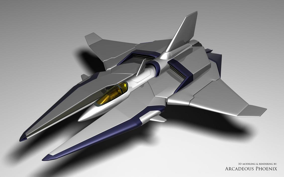 Gradius vic viper tribute 3d modeling by carlius on deviantart for Schaukelstuhl 3d modell