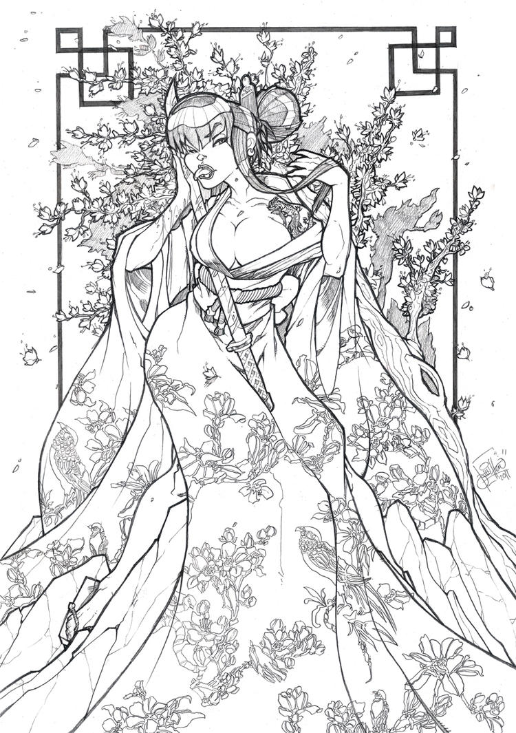 japaese trees coloring pages - photo#19