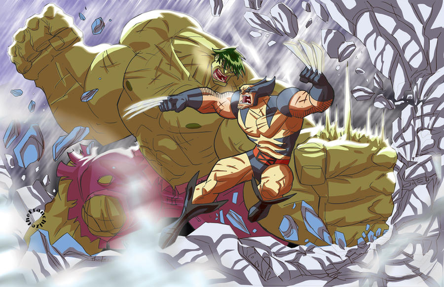 Hulk vs Logan by theFranchize