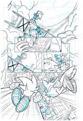 Sonic the Hedgehog #255 page 1 by theFranchize