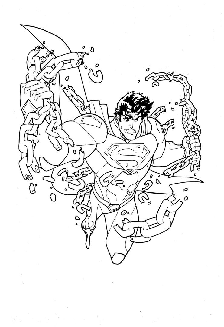 New 52 Superman inks by theFranchize