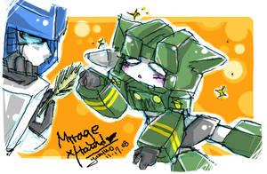Mirage and Hound kitty:3 by BumblebeeSam