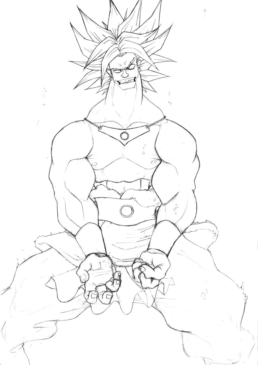 Broly Ss3 Free Coloring Pages