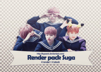 RENDER PACK: Suga (BTS) by kypaok