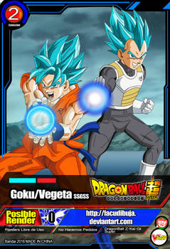 Card Goku y Vegeta |FacuDibuja y SaoDVD