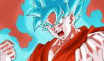 Goku SSJ Blue Con aura|FacuDibuja