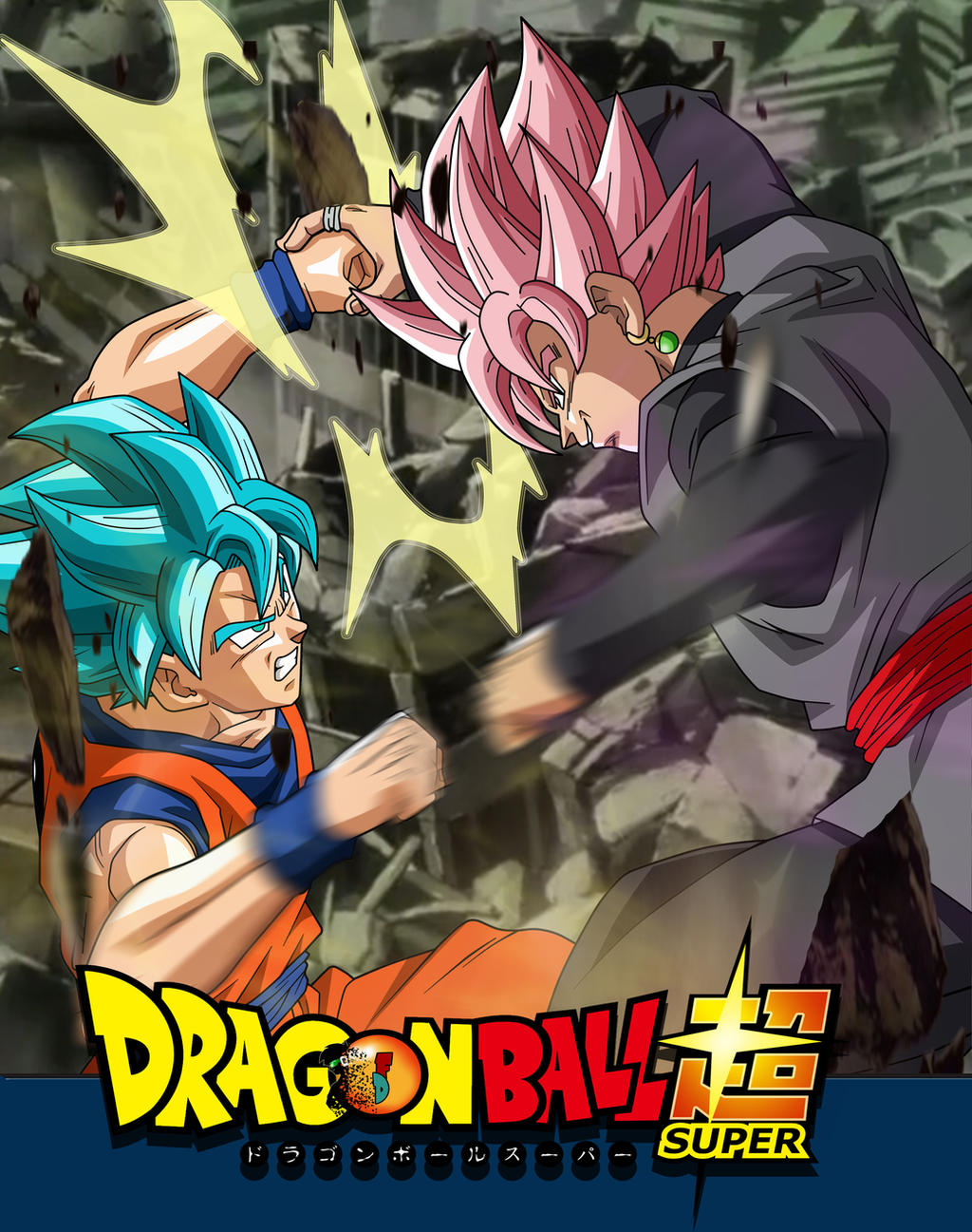 Wallpaper Goku Ssjgblue Vs Black Rosefacudibuja By