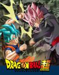 Wallpaper Goku SSJGBLUE vs Black Rose|FacuDibuja