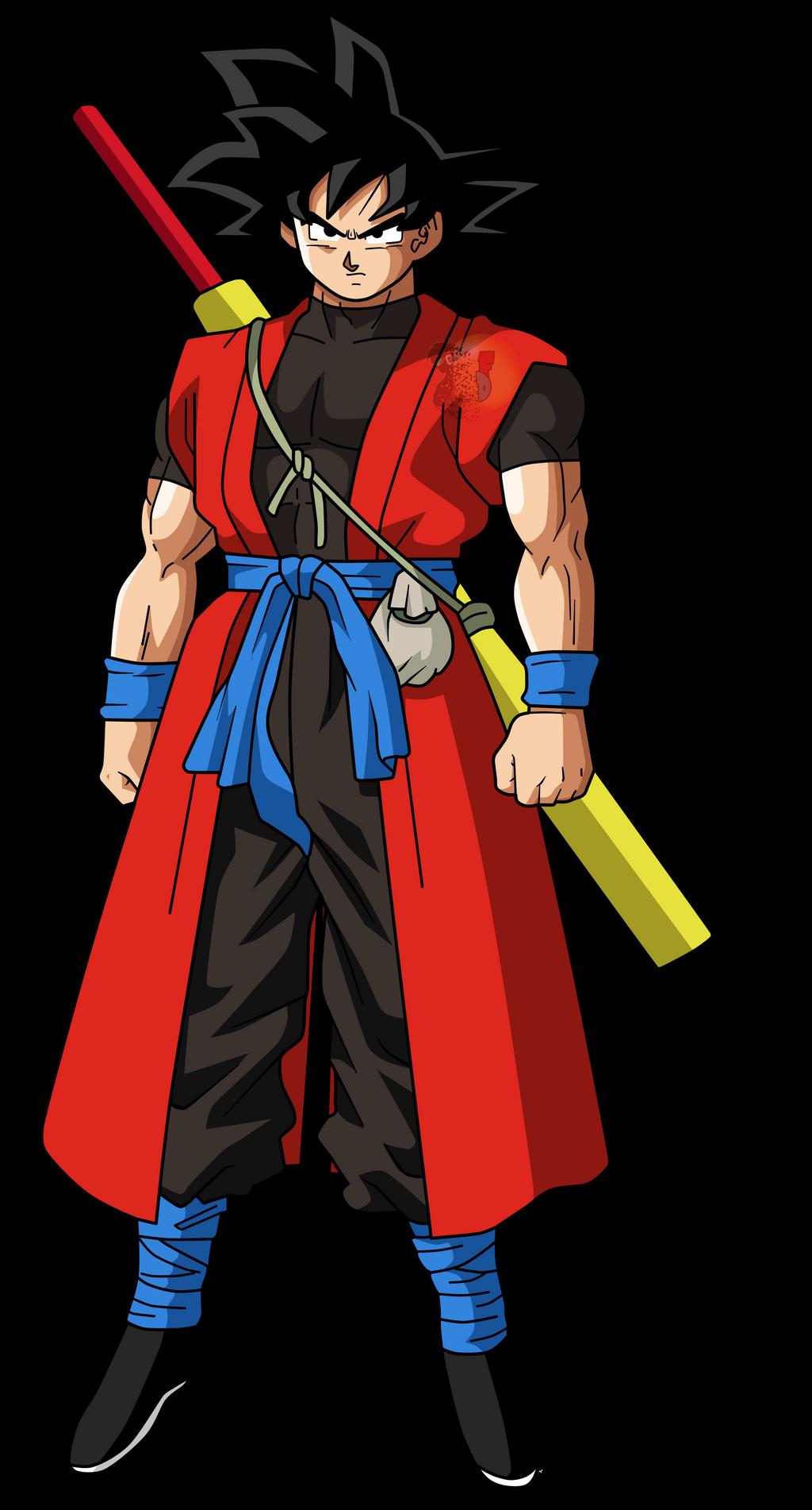 Goku xeno |FacuDibuja by FacuDibuja on DeviantArt