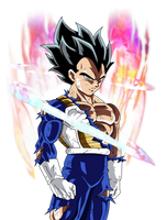 Vegeta Migatte No Gokui Aura|FacuDibuja by FacuDibuja